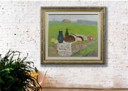 Summer Landscape, Still Life In The Field, Oil Painting, Vintage Impressionist