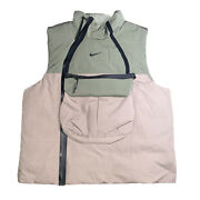 Nike Tech Pack Down Fill Vest Olive And Gray Menandrsquos Size Large 928909-004 Rare