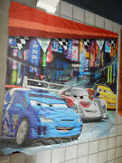 Toys R Us Double Sided Store Event Display Curtain Panel Disney Pixar Cars