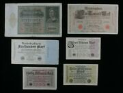 1910-1923 Germany 6-notes Lot // 1 German Empire And 5 Weimar Republic Marks