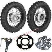 Pair 2.50-10 Wheel Rims Tires W/ 420 Chain+sprocket For Ssr Baja Coolster Crf50
