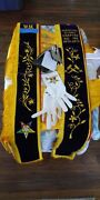 Oes Order Of The Eastern Star Sashes,cape,jewelry,etc Lot L312