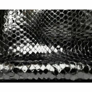 Real Python Skin // Choose One Piece Or Full Snakes Hide // Black Snake Leather