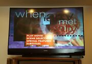 Mitsubishi Wd-65737 65 1080p Rear-projection Dlp Hdtv Nice Picture Works Great