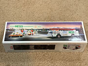 1989 Hess Toy Fire Truck Bank With Lights Emergency Flashers Dual Sound Siren