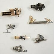 Vintage Craftsman Tools Figural Tie Clips And Tack Lot Of 7