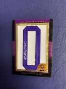 """2007-08 Topps Letterman Magic Johnson """"o"""" Signed Auto Autograph Patch 1/1 Wow"""