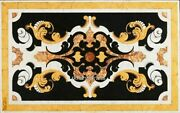 Luxurious Pattern Marble Dining Table Top Hand Crafted Patio Table 36 X 60 Inch