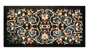 30 X 60 Inches Marble Table Top Inlay With Stone Work Dining Table Home Assents