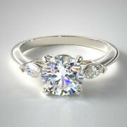Christmas Sale 0.80 Carat Real Diamond Engagement Ring Solid 14k White Gold 7 8