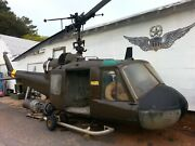 Uh1 Helicopter B Model Cargo Door Right Side Good Glass