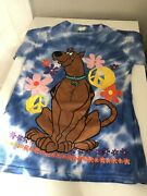 1998 Collectible Vintage Cartoon Network Scooby Doo Shirt Size Small Tie Dye
