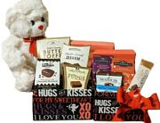 Chocolate Gift Tower With Teddy Bear - Anniversary Gift Baskets Gifts For Women