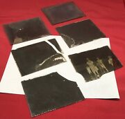 Lot Of 7 Antique Glass Plate Photo Negatives Early Horse Family House 4 X 5