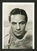 1937 Dated Still Boxing Max Baer Autographed Hq Signed Rppc Postcard Photograph