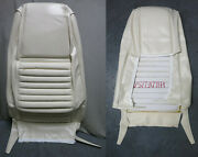 70 Mustang Mach 1 Front Bucket Seat White Upholstery Reproduction White Stripe