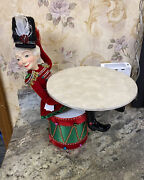 """Katherine's Collection Nutcracker Sitting On Drum 28-028639 New Christmas 15"""""""