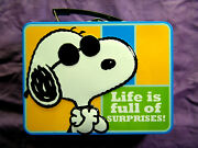 Vintage Lunch Box Lunch Tin Peanuts Snoopy The Secret Is To Stay Cool Nr Mint