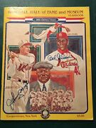 1981 Baseball Hall Of Fame Yearbook With 33 Autographs - Mantle Mays Williams