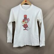 Looney Tunes Vintage Merlin The Magic Mouse Waffle Long Sleeve Shirt 60s/70s Sm