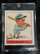 Hank Greenberg Signed Dover Reprint Of 1938 Goudy, Autographed, Nice Card