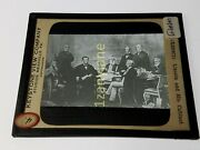 Colored Glass Magic Lantern Slide Mmy Abraham Lincoln And His Cabinet Posed Grac