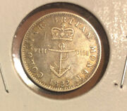 1822 British West Indies Silver 1/8 Dollar Crowned Anchor Collectible Coin