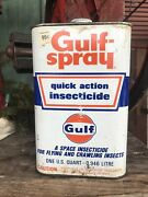 Vintage Gulf Spray Quick Action Insecticide Tin Can