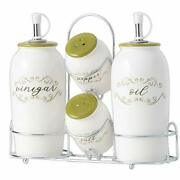 Sullivans Oil And Vinegar Salt And Pepper Dispensers With Caddy