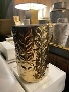 Aerin Lauder Winter Vine Ceramic Relief Vase Gold New With Tags 1