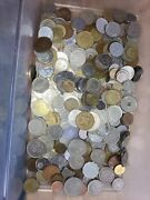 Estate Lot Of Foreign Coins Mixed Countries And Dates Comes In Plastic Bag