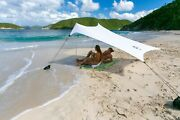 Neso Tents Beach Tent With Sand Anchor, Portable Canopy Sun Shelter White