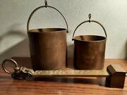 Antique Winchester Bushel Howe Scale With 2 Buckets