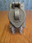 Vintage Hubbell Cast Aluminum Lift Cover Wall Plate Electrical Outlet Cover