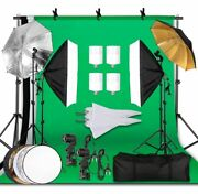 Photography Lighting Kit 2.6x3m Photo Background Muslin Backdrops And Softbox And