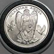 2017 Guardian Angel Niue Island Coin 1 Troy Oz .999 Fine Pure Silver Round Medal