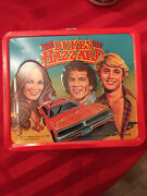 Vintage The Dukes Of Hazzard Metal Lunch Box And Thermos Aladdin Label 1980