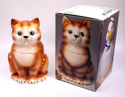 Vintage Kitten Cat Cookie Jar Made In Japan The Market Place - Rare
