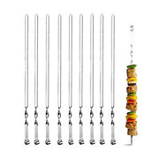 5x10pcs Barbecue Sign Stainless Steel Flat Sign Lamb Kebab Skewers Steel Sign