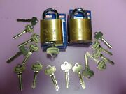 2 New Abus Ic Best Cyl. With H Core And 1 Core And 15 Keys Padlock  Locksmith