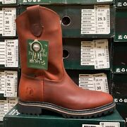 Menand039s Purepecha Work Boots Genuine Leather Pull On Color Safety Western Round