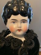 Reduced Beautiful Antique China Shoulder Head Doll,17, Open Mouth, Circa 1890