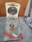 Vintage Marx Electric Casino Table Top Pinball Game Automatic Score - O - Meter