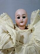 Antique Globe Baby Bisque Doll Signed No Wig