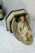 Antique Church Religious Chalkware Angel Wall Console