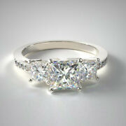 1.27 Ct Natural Diamond Bridal Ring Solid 14k White Gold Size 7 8 6 9