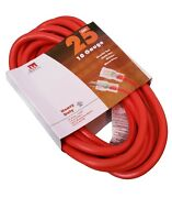 25-ft Extension Cord 10 Gauge Lit End Awg Heavy Duty Ul New 10/3