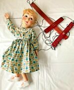 Vintage Hazelle's 812 Sally Airplane Marionette Woman