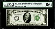 10 1928b Federal Reserve Note Chicago Fr2002-g Pmg 66 Epq Gem Uncirculated