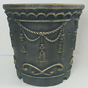Vintage Victorian Cast Iron Ornate Christmas Tree Trunk Stand By Traditions Nib